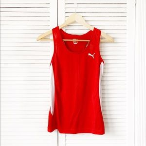Puma Dri-Fit Red Athletic Workout Tank Top